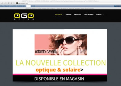 CRÉATION SITE INTERNET  OGO OPTIC (GUYANE)