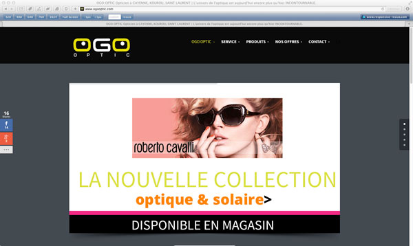 Site OGO OPTIC OPTICIEN GUYANE - graphist.pro