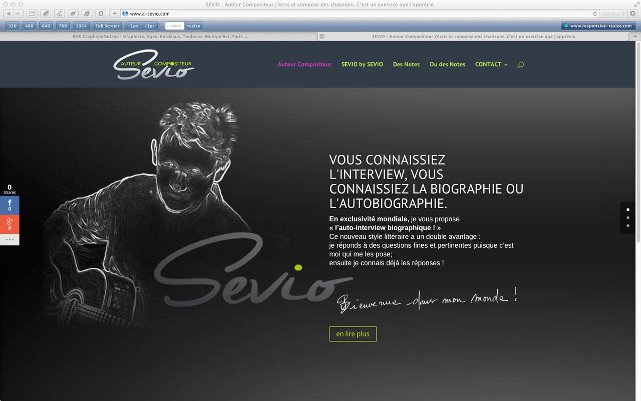 création du site internet SEVIO by RVB www.graphist.pro Lot et Graronne